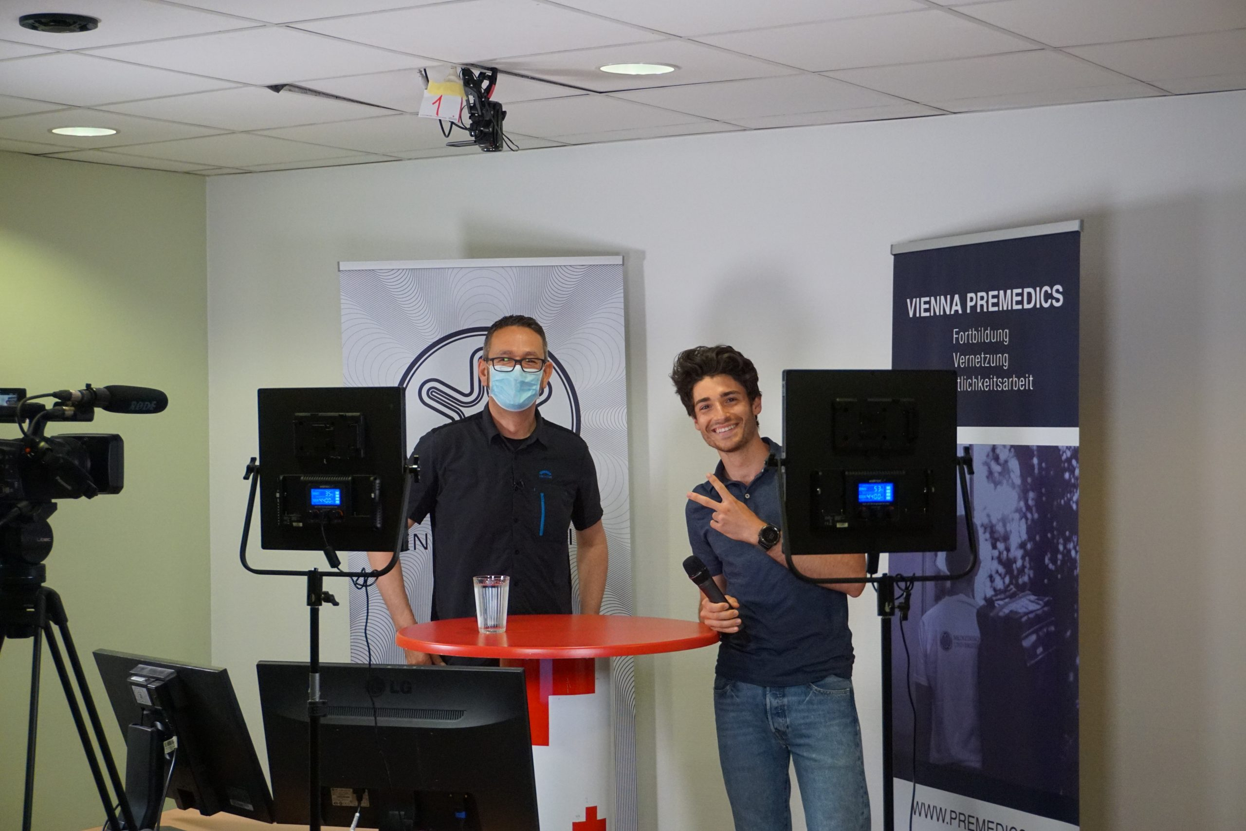 Thomas Kral und Benji Ullram pre-lecture